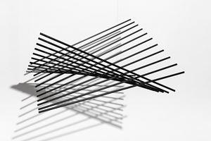Cuadrado Flexionante Negro 50 by Elias Crespin contemporary artwork