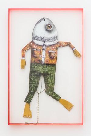 Fish head by OSGEMEOS contemporary artwork