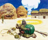 Watermelon Landmine by Wang Xingwei contemporary artwork painting