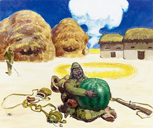 Watermelon Landmine by Wang Xingwei contemporary artwork