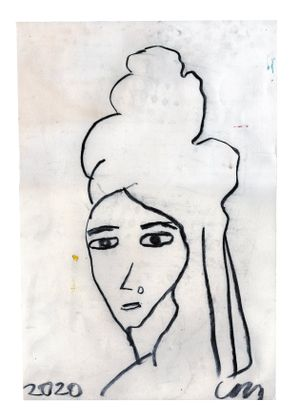 Amy Winehouse by Chris Martin contemporary artwork painting, works on paper, drawing