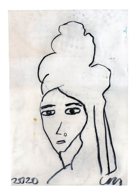 Amy Winehouse by Chris Martin contemporary artwork