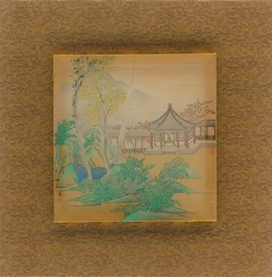 Eight Scenic Views of Yongfu Monastery: Nestled between Lake and Mountain by Luo Ying contemporary artwork