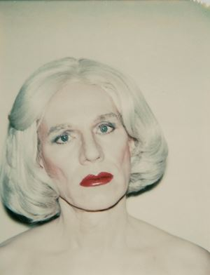 Self-Portrait in Drag by Andy Warhol contemporary artwork