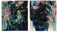 Abstract Rubbish 1 and 2 by Zhu Jinshi contemporary artwork painting