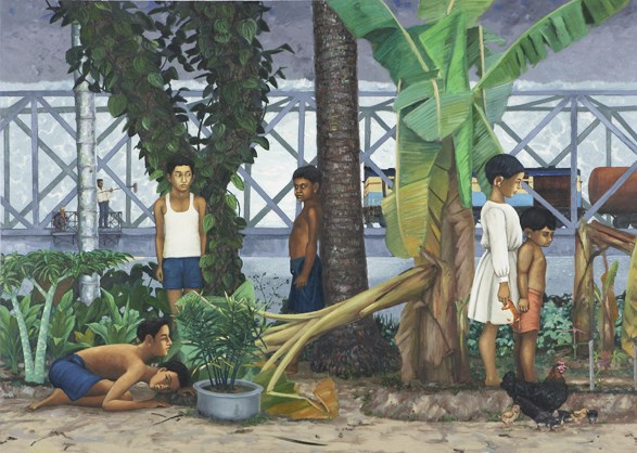 Hideout by K.P. Reji contemporary artwork