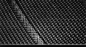 Untitled (Baseball Stadium, 2020) by Robert Longo contemporary artwork works on paper, drawing