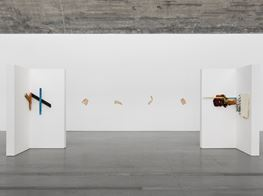"Richard Tuttle<br><em>Double Corners and Colored Wood</em><br><span class=""oc-gallery"">Pace Gallery</span>"