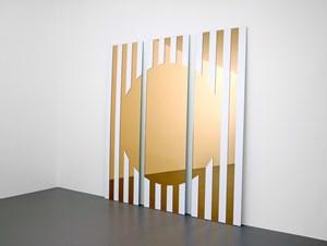 Les visages colorés III A-rosé by Daniel Buren contemporary artwork mixed media