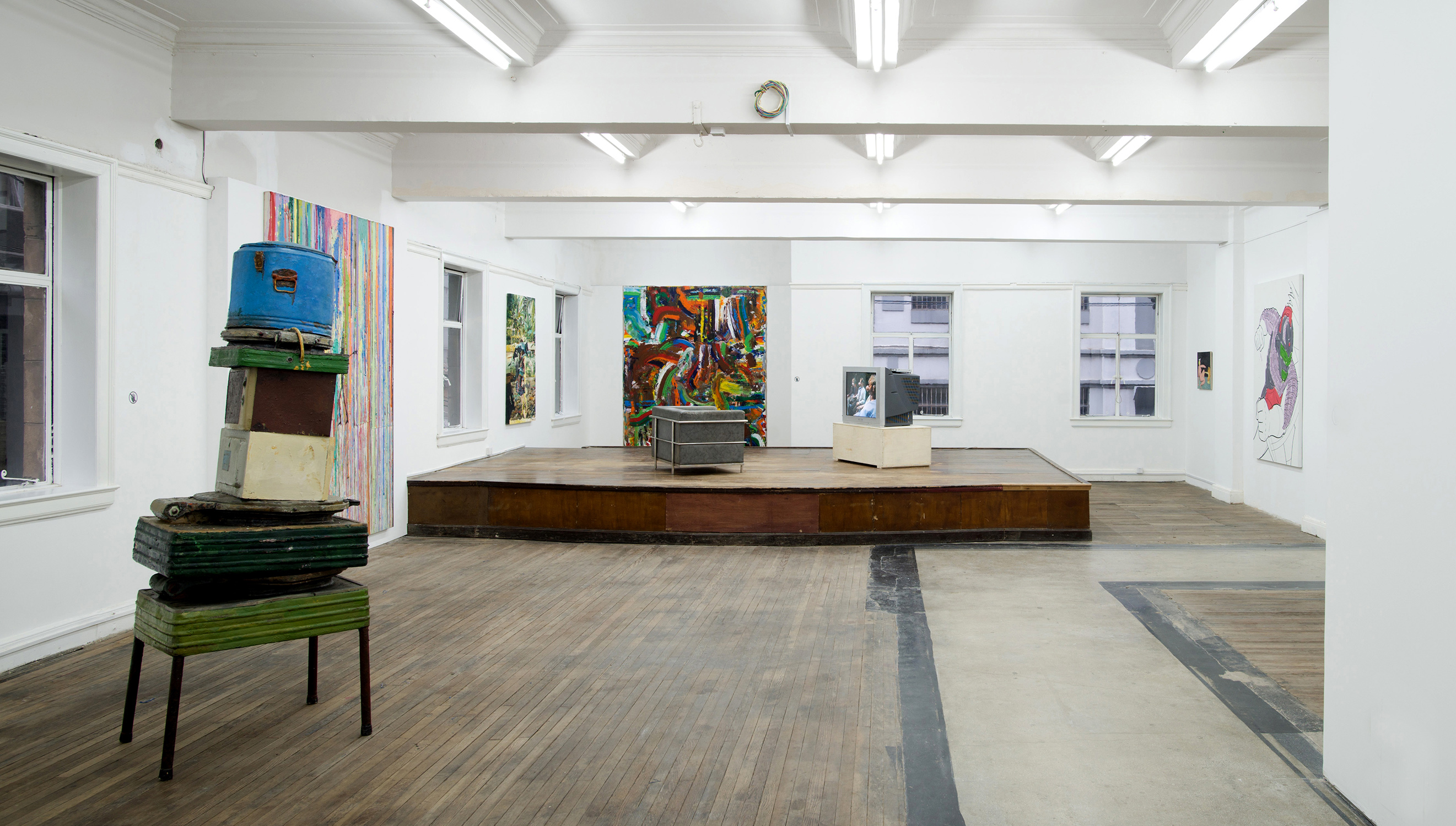 Exhibition view, PAINT(erly) (2013), at BANK, Shanghai. Image courtesy the gallery.