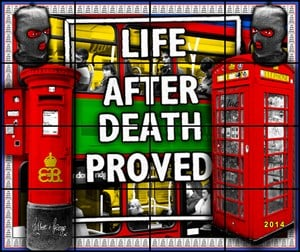 Life After Death by Gilbert & George contemporary artwork