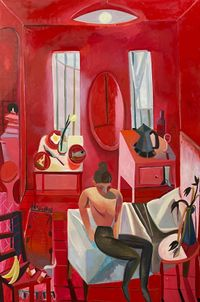 The Red Studio by Danielle Orchard contemporary artwork painting