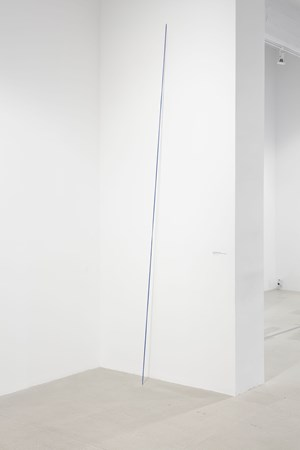 Untitled (The Second of Four Ultramarine Diagonals) by Fred Sandback contemporary artwork