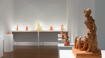 Contemporary art exhibition, Linda Marrinon, Architects! Terracotta! at Roslyn Oxley9 Gallery, Sydney