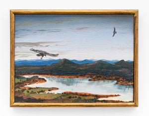Estudios comparados de paisaje - Audio Pinturas Improvisaciones en el mirador de los Urubus, Trio para chelo, kayagum y pinturas by Alberto Baraya contemporary artwork