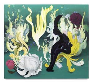 Party of the Flames and Flowers by Inka Essenhigh contemporary artwork