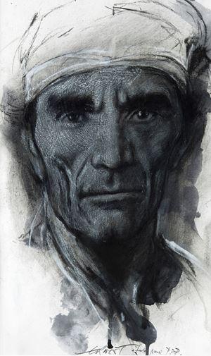 """Portrait of Pasolini - """"Si je reviens"""" XXVII by Ernest Pignon-Ernest contemporary artwork"""