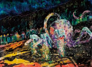 Desolate Octopod by Wang Liang-Yin contemporary artwork