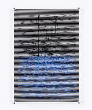 Echelle bleue (96/110) by Jesús Rafael Soto contemporary artwork
