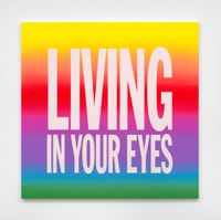 LIVING IN YOUR EYES by John Giorno contemporary artwork painting