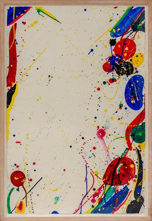 Bright Ring Drawing (Untitled) (Coloured drawing) (SF65-101) by Sam Francis contemporary artwork