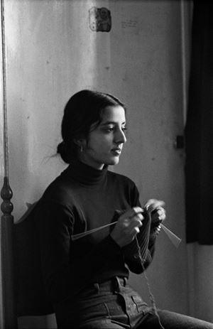 Medha Knitting by Pablo Bartholomew contemporary artwork