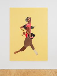 Fast Girl by Tschabalala Self contemporary artwork painting