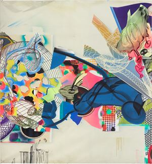 The Duel E by Frank Stella contemporary artwork