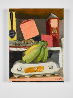 Bananas and eggs by Liu Xiaodong contemporary artwork