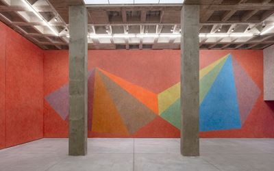 Exhibition view: Sol LeWitt, Instructions for a pyramid, Galeria OMR, Mexico City (26 August-21 October 2017). D.R. © SOL LEWITT/ARS/SOMAAP/México/2017. Photo: Enrique Macías Martínez.