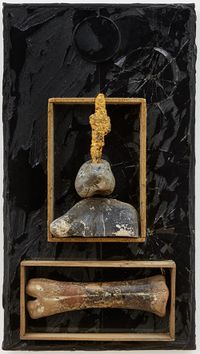 Untitled (Bone, Face and Cross) by Derek Jarman contemporary artwork painting