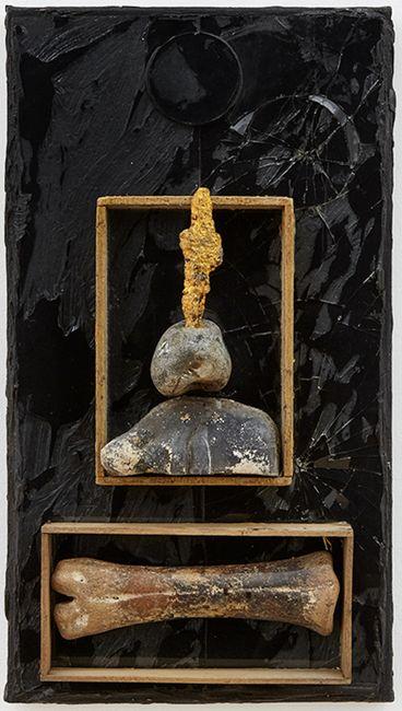Untitled (Bone, Face and Cross) by Derek Jarman contemporary artwork