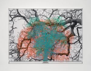 Numbers and Trees: London Series 1, Tree #3, Cannon Street by Charles Gaines contemporary artwork