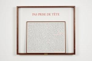 Pas prise de tête by Sophie Calle contemporary artwork