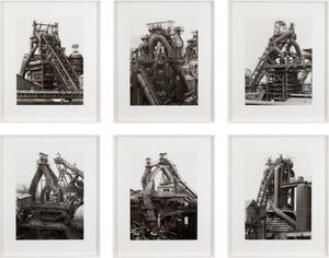 Blast Furnaces, Perspective View by Bernd & Hilla Becher contemporary artwork