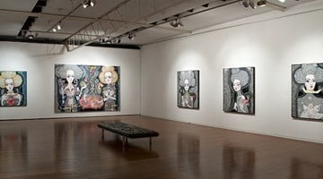 Contemporary art exhibition, Del Kathryn Barton, Satellite fade-out at Roslyn Oxley9 Gallery, Sydney, Australia