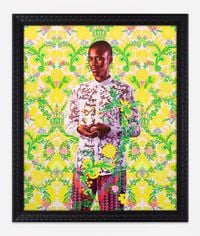 Portrait of Alimatou Diop by Kehinde Wiley contemporary artwork painting, works on paper
