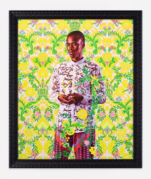 Portrait of Alimatou Diop by Kehinde Wiley contemporary artwork