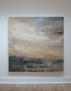 Coast Light, Colonsay by Louise Balaam contemporary artwork painting, works on paper