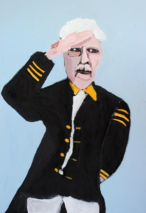 Captain's Salute by Vincent Namatjira contemporary artwork