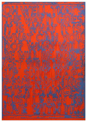 Oh Well by Mel Bochner contemporary artwork print