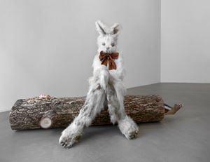 Log Lady & Dirty Bunny by Marnie Weber contemporary artwork