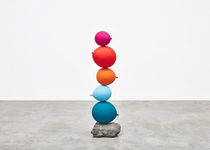 Untitled (Short People) Pink, Red, Orange, Light Blue, Blue by Gimhongsok contemporary artwork
