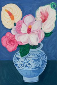 Flowers are the Ultimate Symbol by Julia Long contemporary artwork painting