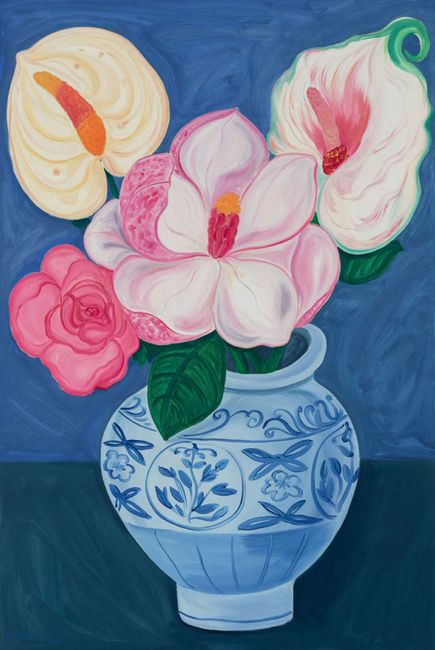 Flowers are the Ultimate Symbol by Julia Long contemporary artwork