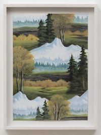 Black River Mountain by Neil Raitt contemporary artwork painting, works on paper