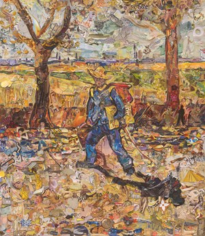 Repro: Painter on the Road to Tarascon, after Van Gogh by Vik Muniz contemporary artwork