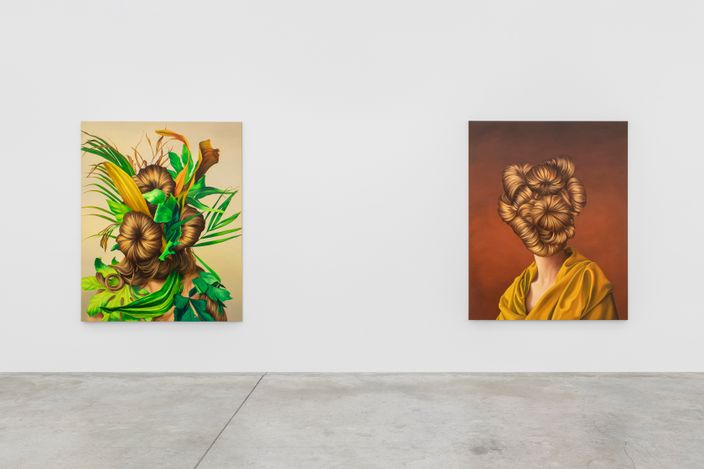 Exhibition view: Ewa Juszkiewicz,Bloom, and Ever Springing Shade, Almine Rech, Paris (2021). Courtesy the Artist and Almine Rech. Photo:Nicolas Brasseur.
