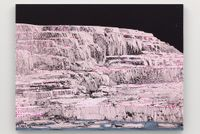 Pink and White Terraces (study through the night) by Whitney Bedford contemporary artwork painting