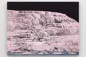 Pink and White Terraces (study through the night) by Whitney Bedford contemporary artwork